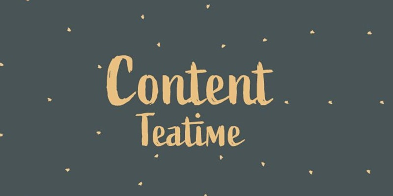 Logo for meetup called Content Teatime made up of words