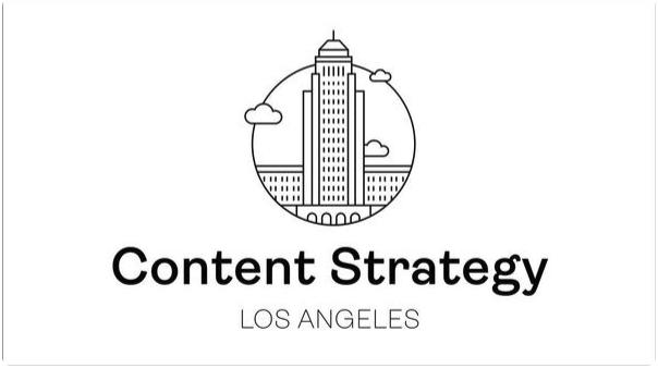 Building symbolizing content strategy los angeles logo