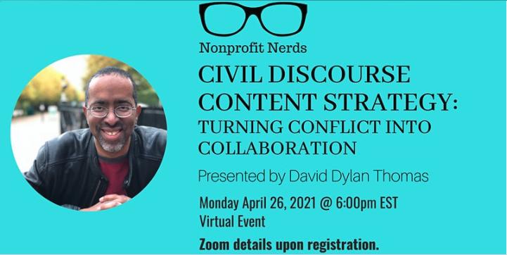 Nonprofit nerds event homepage screenshot